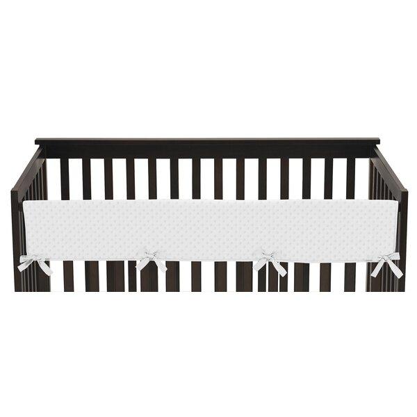 Minky Dot Long Crib Rail Guard Cover by Sweet Jojo Designs