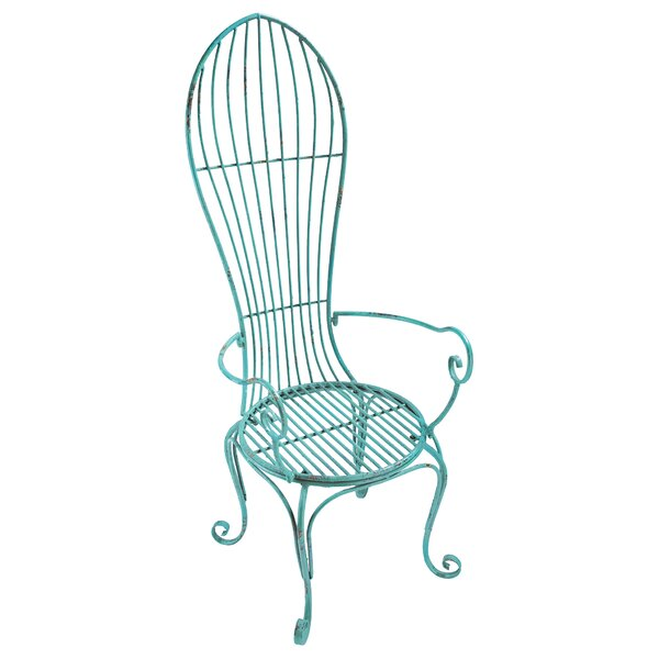 Balloon Back Metal Garden Arm Chair by Design Toscano