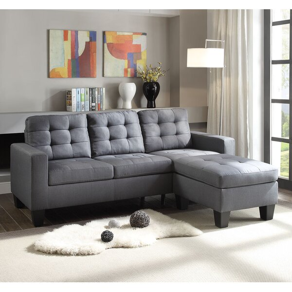 Earsom Reversible Sectional With Ottoman By A&J Homes Studio
