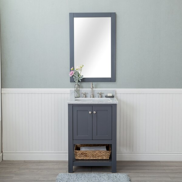 Shae 24 Single Bathroom Vanity Set with Mirror by Darby Home Co