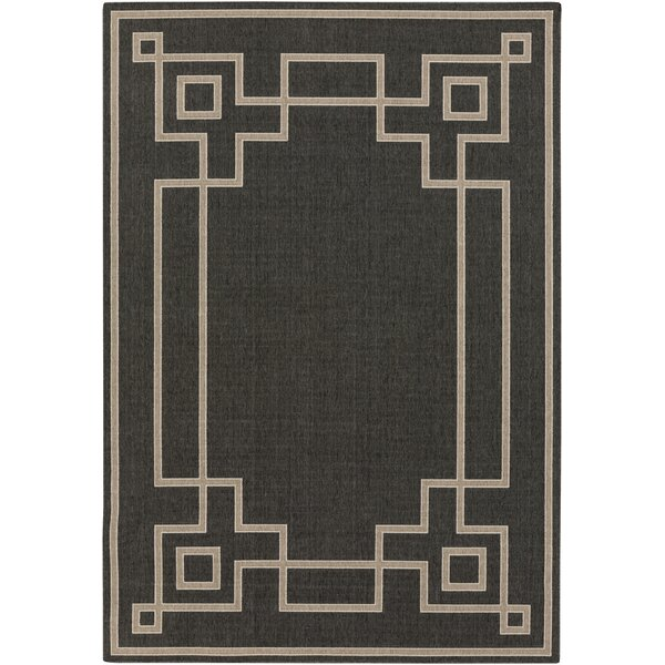 Pearce Black/Beige Indoor/Outdoor Area Rug by Charlton Home