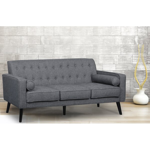 Best Price Deven Mid Century Tufted Sofa by Langley Street by Langley Street