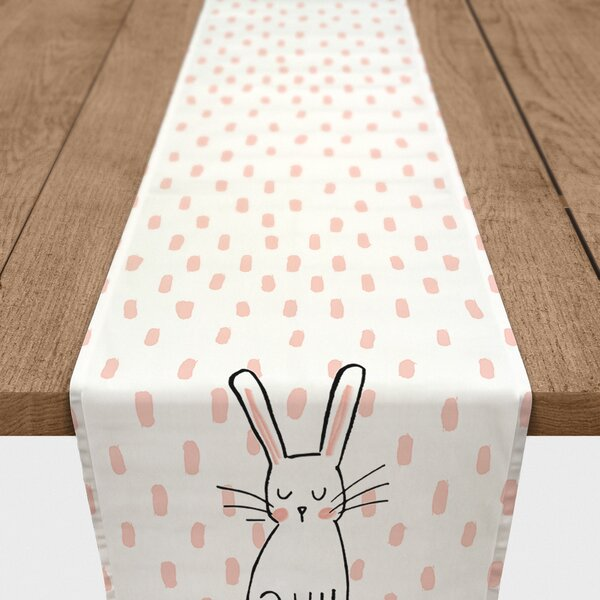 Biggins Cute Bunny Cotton Table Runner by The Holiday Aisle