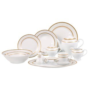 Amelia 57 Piece Dinnerware Set Service for 8  sc 1 st  Wayfair : dinnerware sets for 8 people - pezcame.com