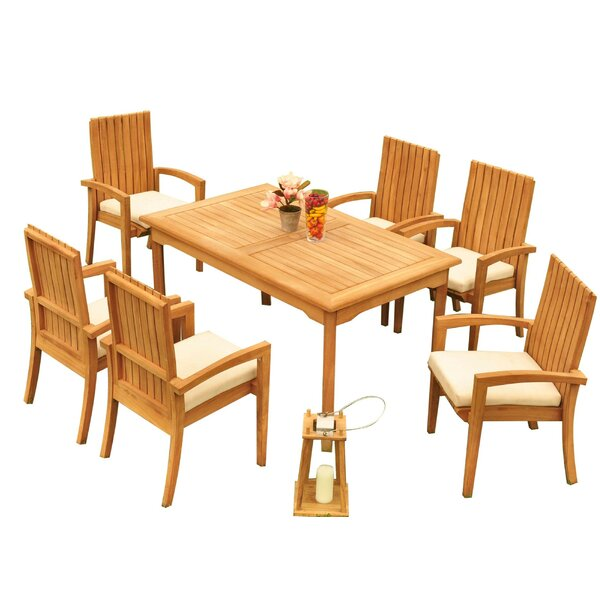 Wilkinson 7 Piece Teak Dining Set by Bayou Breeze