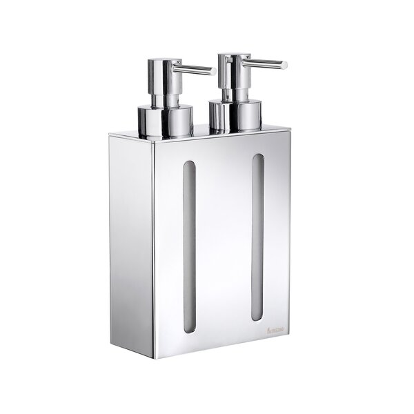 Outline Two Container Soap & Lotion Dispenser by Smedbo