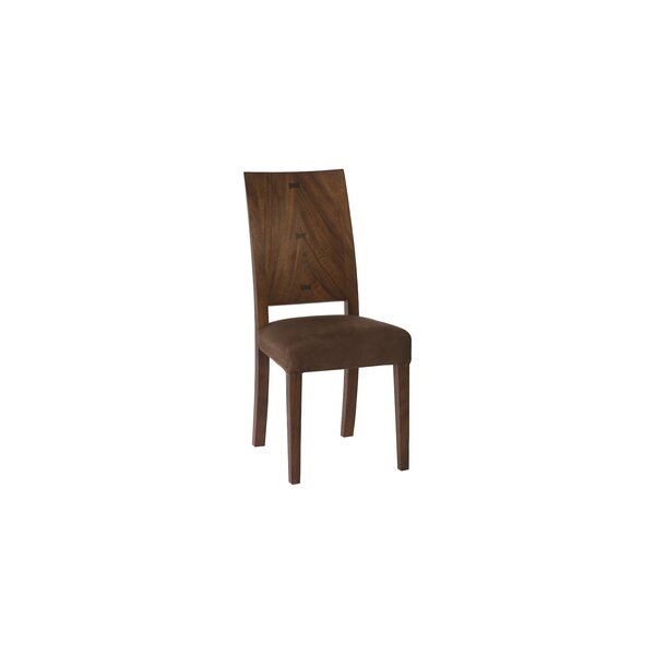 Suede Solid Wood Upholstered Solid Back Side Chair In Brown By Phillips Collection