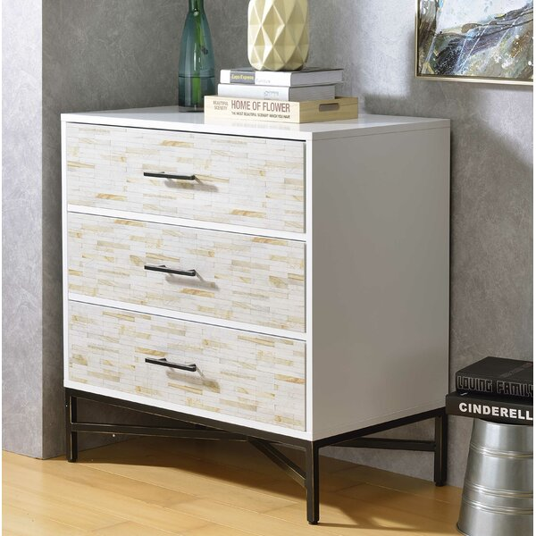 Pawlowski 3 Drawer Nightstand by Brayden Studio