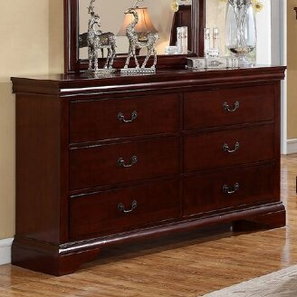 Riven 6 Drawer Double Dresser by A&J Homes Studio