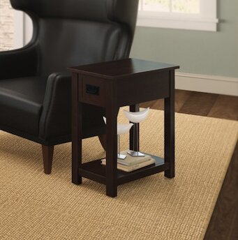 Kingsland Chairside End Table By Charlton Home