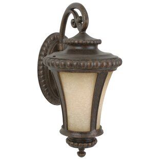 Find the perfect Oakhill Bronze 1-Light Outdoor Wall Lantern By Charlton Home