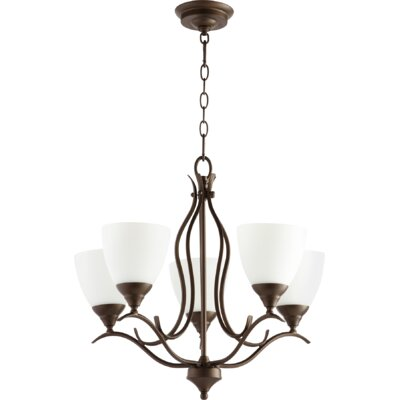 Harnois 5 light shaded chandelier
