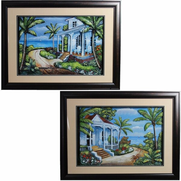 2 Piece Framed Set on Canvas by Bay Isle Home