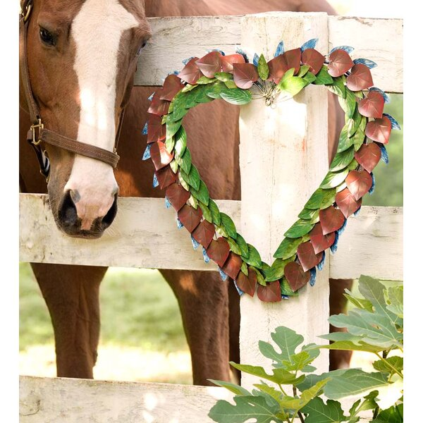 22 Metal Heart Wreath by Wind & Weather