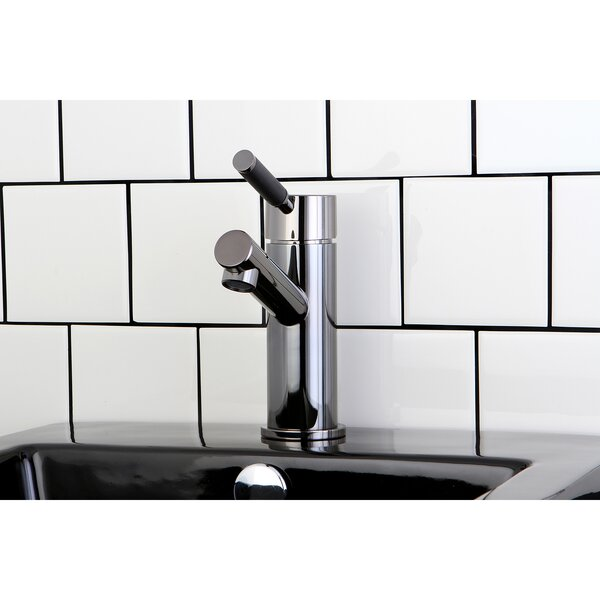 Water Onyx Centerset Bathroom Vessel Faucet With Anti-Slide Handle Sleeve And Brass Pop-Up Drain By Kingston Brass