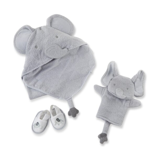 Little Peanut Elephant 3 Piece Towel Set by Baby Aspen