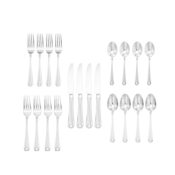Knowlton 20-Piece 18/10 Stainless Steel Flatware Set by Mercer41