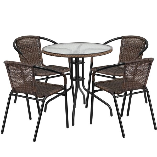 Océane 5 Piece Bistro Set by Willa Arlo Interiors
