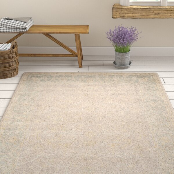 Brune Hand Tufted Putty Area Rug by One Allium Way