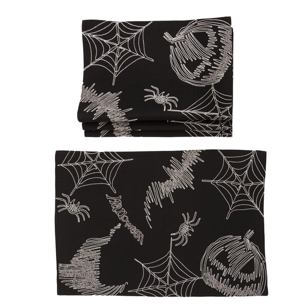 Moya Happy Halloween 20 Placemat (Set of 4) by The Holiday Aisle