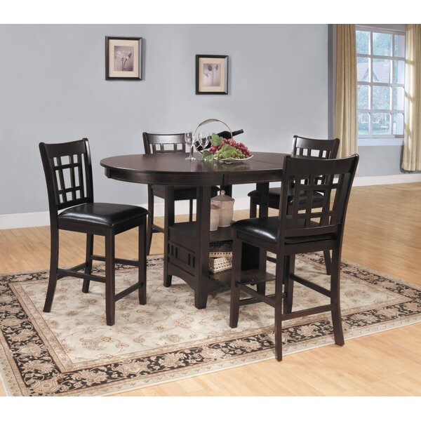 Araiza 5 Piece Counter Height Extendable Dining Set By World Menagerie