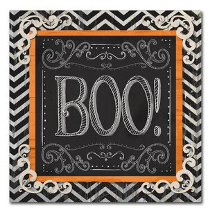 'Boo' Graphic Art Print on Wrapped Canvas by Trademark Fine Art