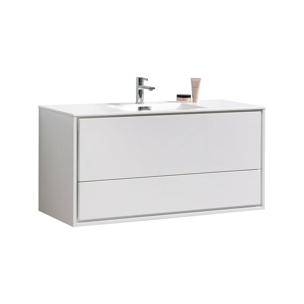 Trieu 47 Wall-Mounted Single Bathroom Vanity Set by Orren Ellis