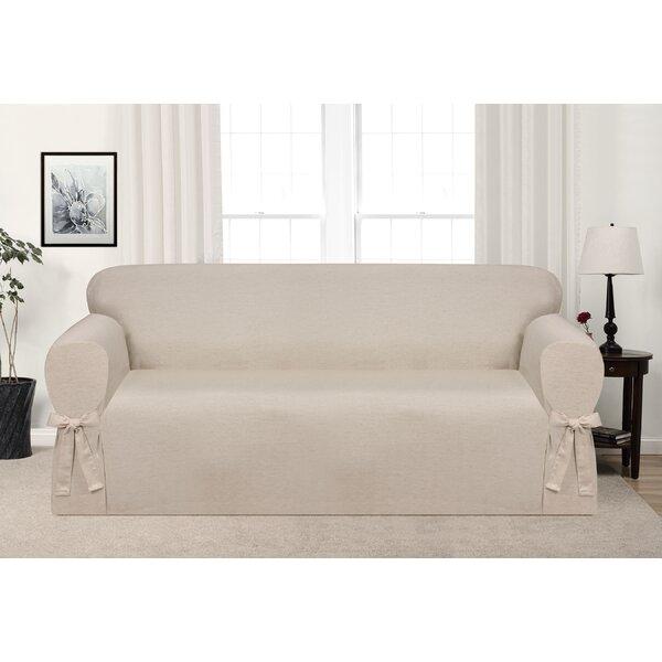 Box Cushion Sofa Slipcover By Ophelia & Co. Ophelia & Co.