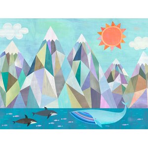 'Mountain Adventure by the Sea' by Melanie Mikecz Stretched Canvas Art by Oopsy Daisy