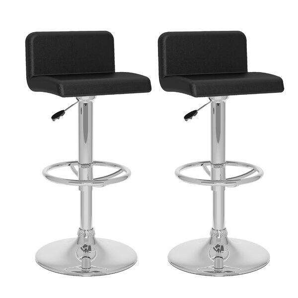 Corel Adjustable Height Swivel Bar Stool (Set of 2) by dCOR design