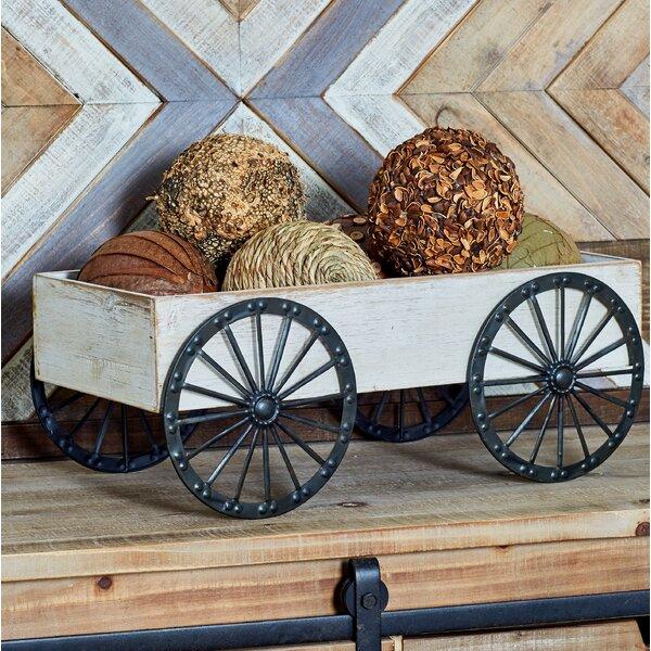 Traditional Wagon Wheelbarrow Planter by Cole & Grey