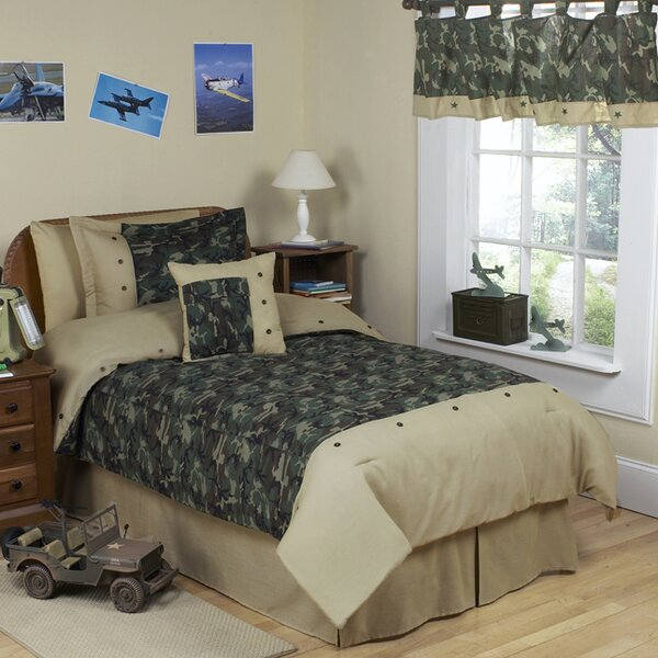 Camo Green Kid Bedding Comforter Collection by Sweet Jojo Designs