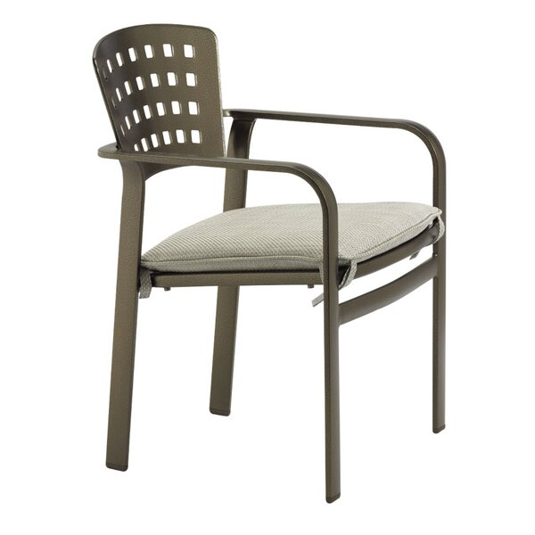 Impressions Stacking Patio Dining Chair with Cushion by Tropitone
