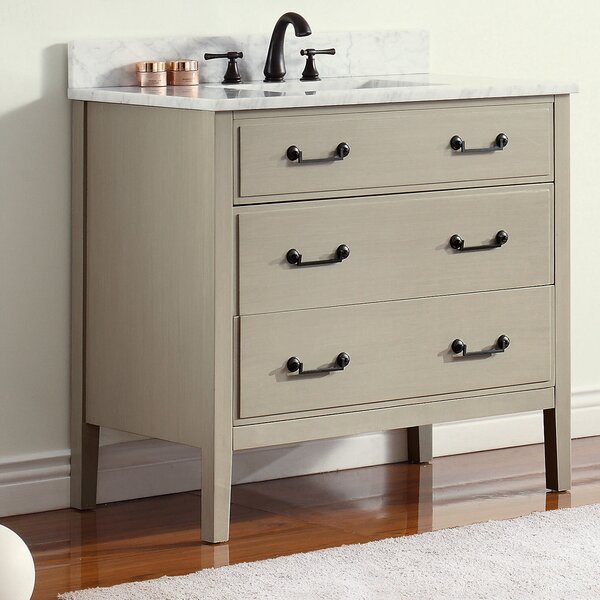 Tharp 37 Single Modern Bathroom Vanity Set by August GroveTharp 37 Single Modern Bathroom Vanity Set by August Grove