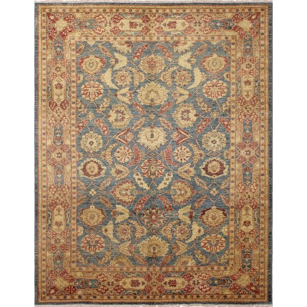 One-of-a-Kind Romona Hand Knotted Oriental Wool Blue Area Rug by Isabelline