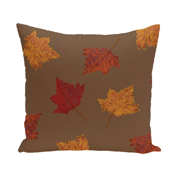 Marine Dancing Leaves Flower Print Throw Pillow by August Grove