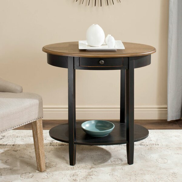 Locking Monica End Table by August Grove