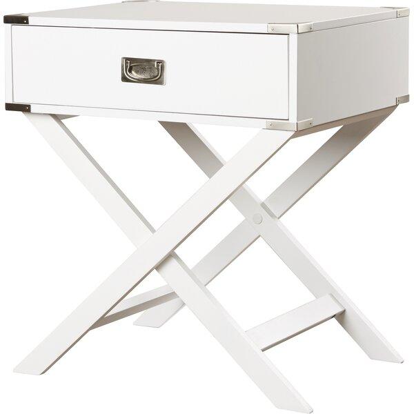 Marotta 1 Drawer End Table by Mercury Row