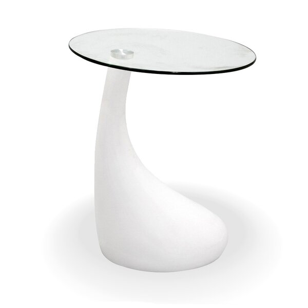 Tear Drop End Table by Fab Glass and Mirror