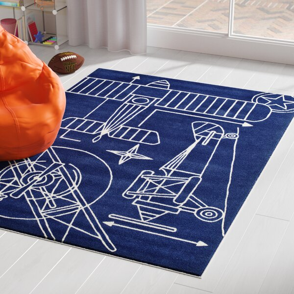 Fabio Hand-Tufted Navy Kids Rug by Viv + Rae