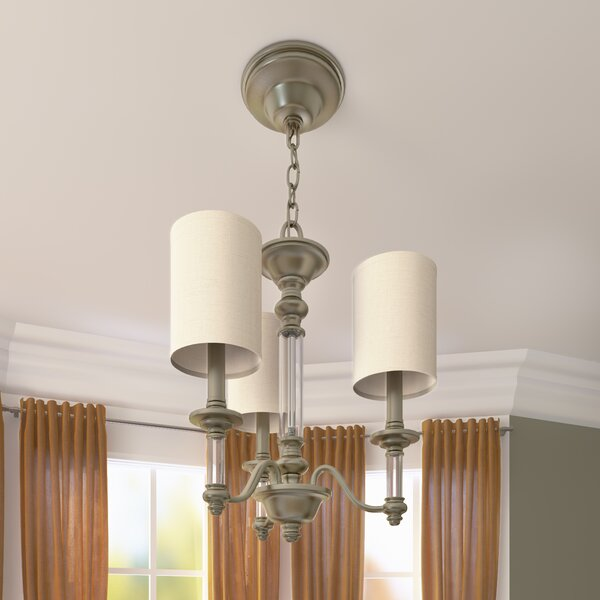 Harrison 3-Light Shaded Chandelier by Canora Grey