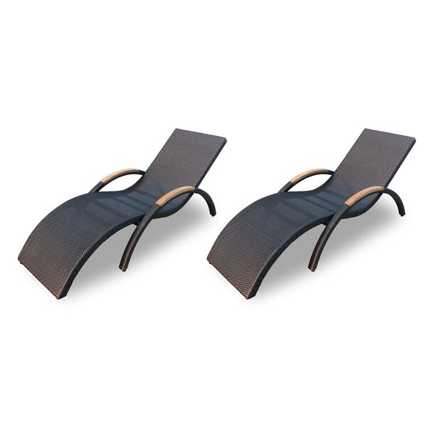 Holbrook Chaise Lounge (Set of 2) by Rosecliff Heights Rosecliff Heights