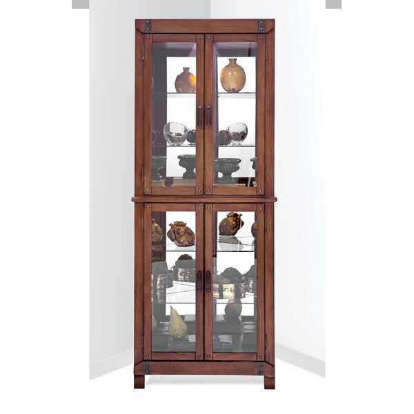 Wellesley Lighted Corner Curio Cabinet by Red Barrel Studio