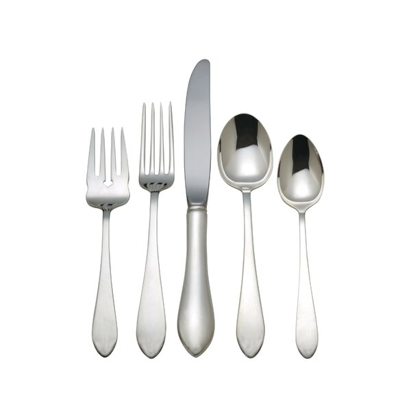 Pointed Antique 5 Piece Flatware Set by Reed & Barton
