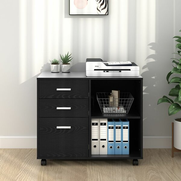 Newfields 3-Drawer Mobile Lateral Filing Cabinet