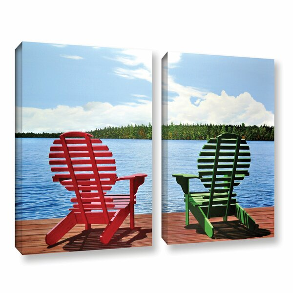 Dockside by Ken Kirsh 2 Piece Photographic Print on Wrapped Canvas Set by ArtWall