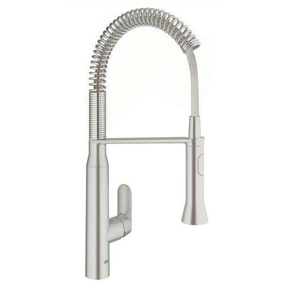 K7 Pull Down Single Handle Kitchen Faucet With SilkMove® By GROHE