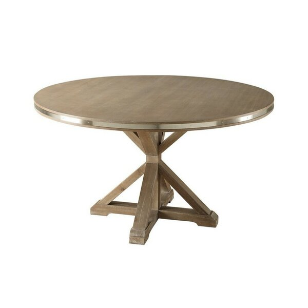 Burnsfield Round Shaped Solid Wood Dining Table by Ophelia & Co.