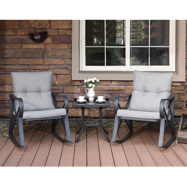 Dezi 3 Piece Bistro Set With Cushions By Ebern Designs