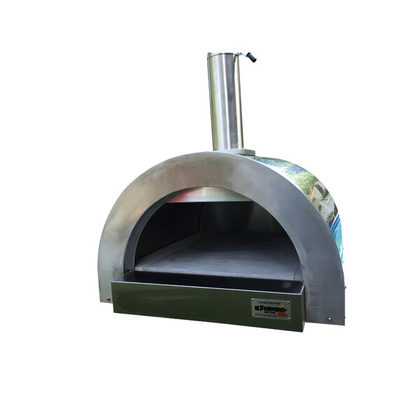 F- Series Mini Professional Stainless Steel Wood Fired Pizza Oven by ilFornino